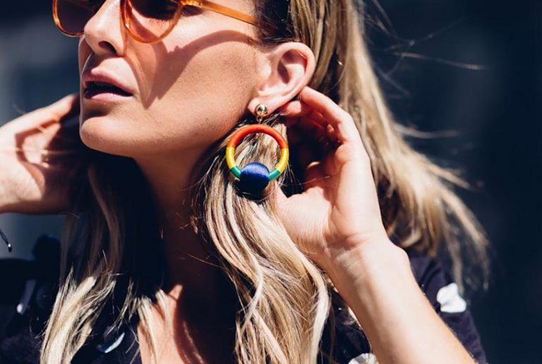 rainbow earrings trend