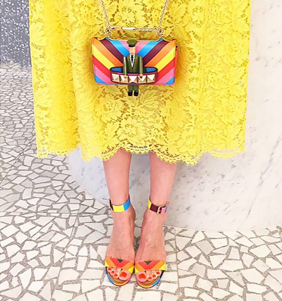 Valentino rainbow small handbag and matching sandals
