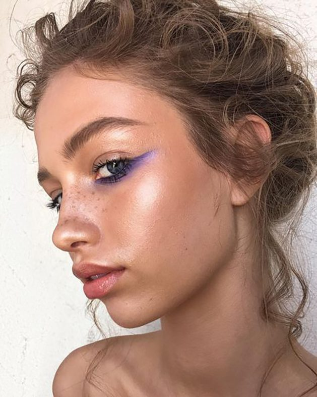 New Beauty Trends - Bold Purple and Shimmery Gold