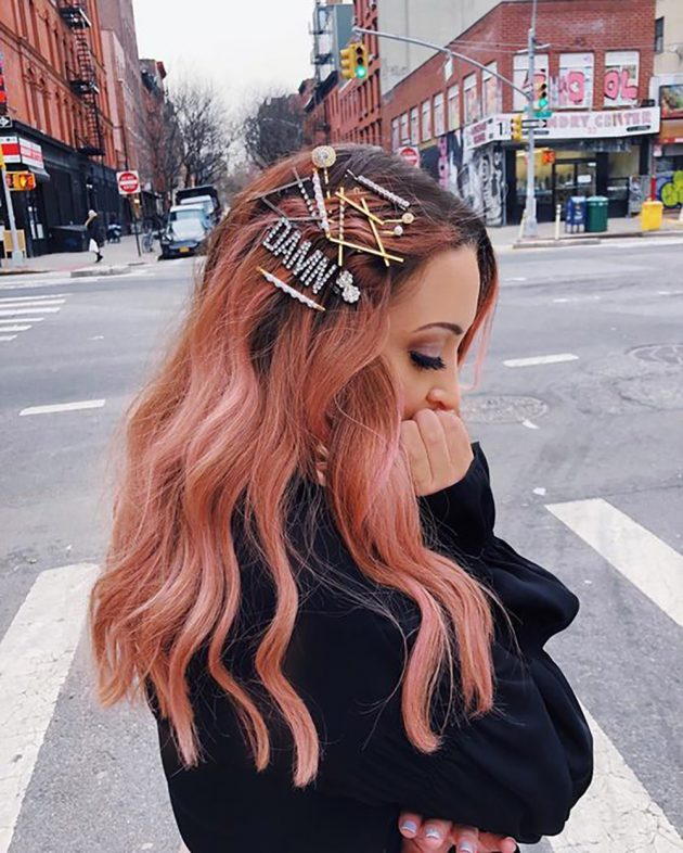 New Beauty Trends - Crystal Barrettes and Bobby Pins