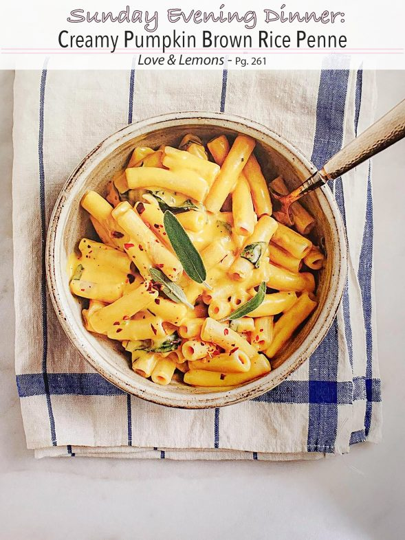 Plant-Based Recipes: Creamy Pumpkin Brown Rice Penne from Love & Lemons