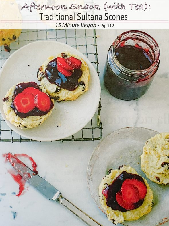 Plant-Based Recipes: Traditional Sultana Scones from 15 Minute Vegan