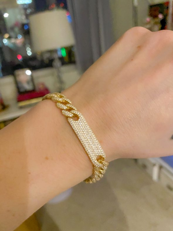 What I Loved in April: a sparkly gold pave bracelet from The M Jewelers