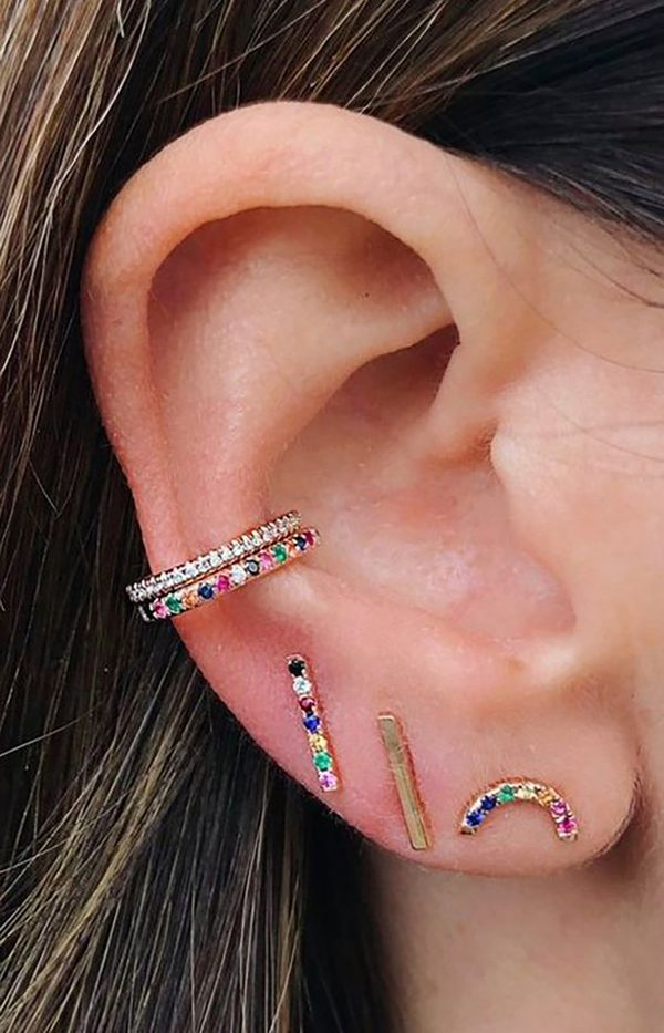 Rainbow trend earrings