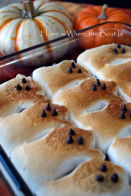 Ghostly Peeps Fun- Brownie S'mores and Peeps Hot Chocolate!